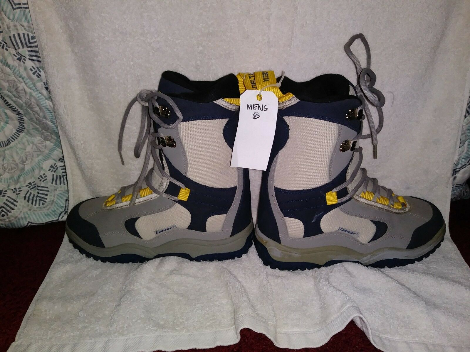 Lamar Delta Adult Linerless Snowboard Boots Size 8