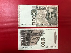 Repubblica-Italiana-1000-Livres-M-Polo-Serie-Neuves-Xf-B-1991-Qfds-Expertise