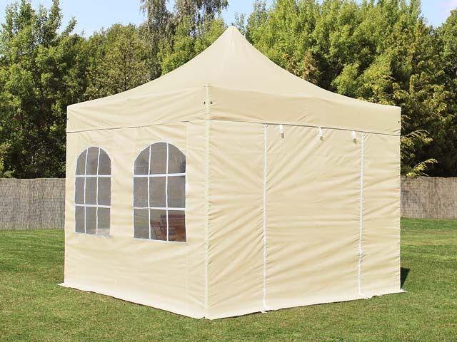 GAZEBO PIEGHEVOLE 3x3 GAZEBO PIEGHEVOLE PARTY tenda con 4 pagine parti tenda pieghevole beige