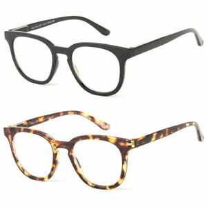 Reading-Glasses-Clear-Lens-Men-Women-Vintage-Style-With-Spring-Hinge-Temple