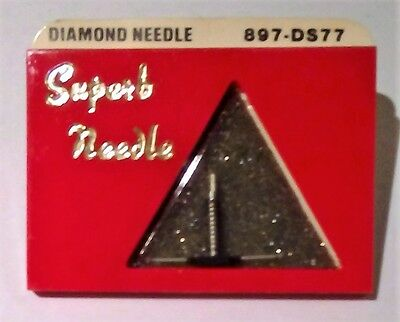 NEW Diamond Needle Stylus Dual Needle 897-DS77 Zenith Pfanstiehl 68567 897 ds77
