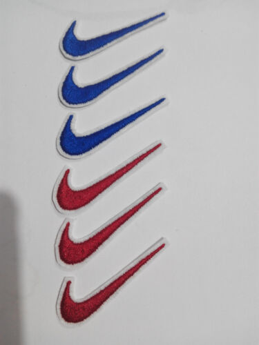 Lote 6 parches bordados para Pegar estilo Nike 5/1,5 cm adorno ropa artesania