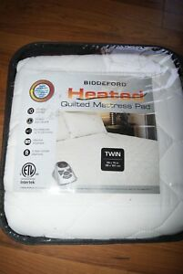Biddeford Quilted Heated Mattress Pad Twin New