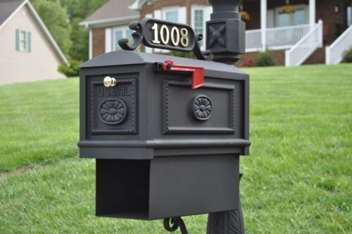 Decorative Cast Aluminum Mailboxes Better Box Mailbox with Paper Box Black