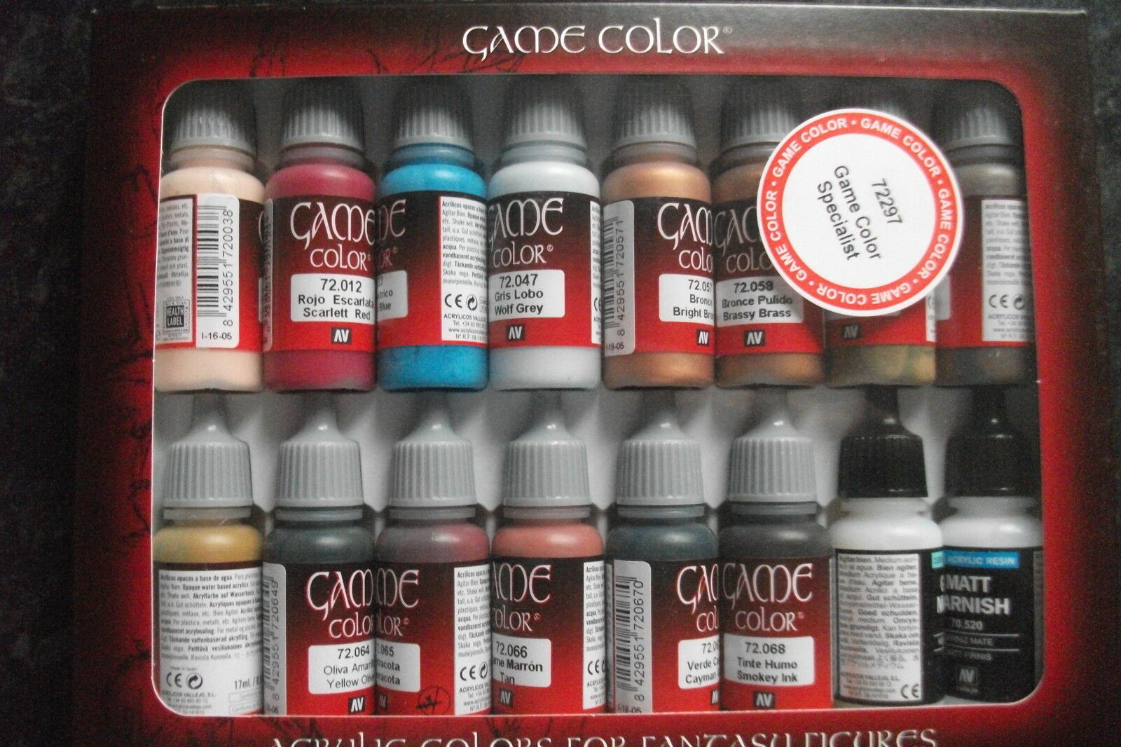 Val72297 Game Farbe range Specialist (X16) role play paints vallejo Set