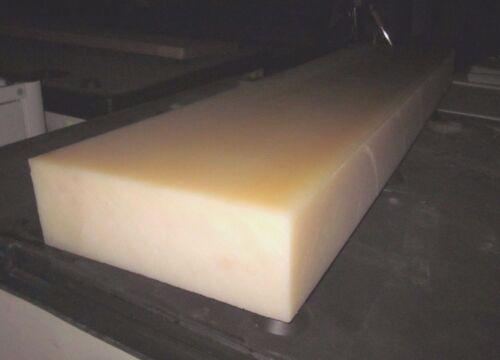 "Nylon 101 6//6 Sheet Plate 1/"" x 2/"" x 4/"" Extruded Block Natural PA66 Bar Stock"