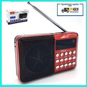 RADIO RADIOLINA CASSA SPEAKER PORTATILE CON USB LETTORE MP3 TF FM JACK MICRO SD