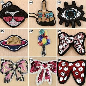 Embroidered-Sew-On-Patches-Sequin-Cartoon-Transfer-Fabric-Bag-Clothes-Applique