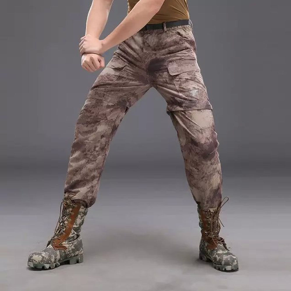 Men's Fast drying Pants Hiking Outdoor two-in-one removable Shorts Trousers