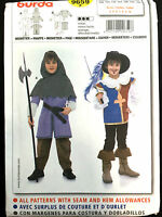 9659 Burda Childs Boys Musketeer Medieval Knights Costume Pattern Uc 4-10