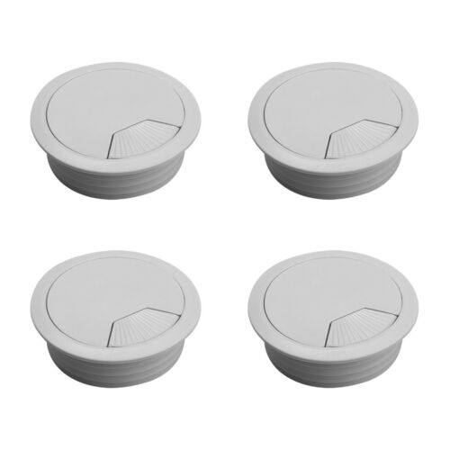 60mm 80mm Cable Wires Desk Grommet Computer PC Cover Caps Wires Cables Plastic