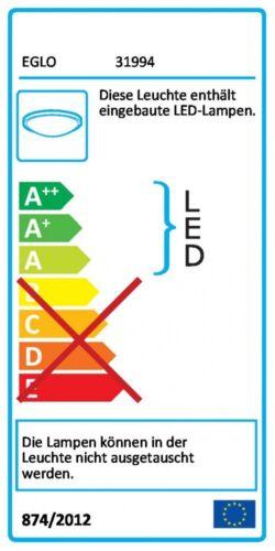 Design LED Deckenleuchte Küchen Leuchten Chrom Wohn Zimmer Lampen Flur Strahler