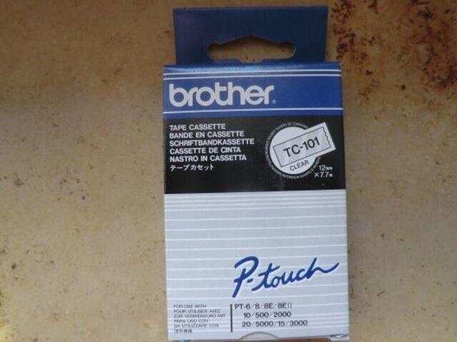 brother P-touch TC-Tape TC-101 Schriftbandkassette - Bandbreite: 12mm 7,7m