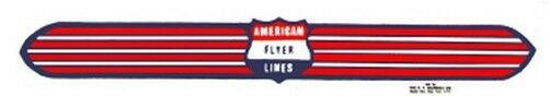SILVER STREAK DIESEL NOSE/TRANS SELF ADHESIVE STICKER for AMERICAN FLYER TRAINS