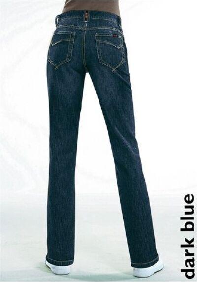 H.I S JEANS Kurz-Gr.18,19 (36,38) New Stretch Ladies Denim Trousers Dark bluee