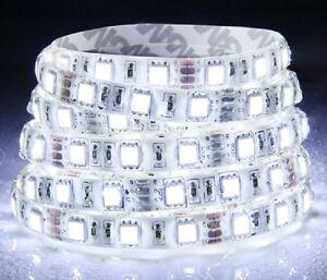 5M-Cool-White-5050-SMD-300-LED-Strip-light-flexible-60led-m-WATERPROOF-12V