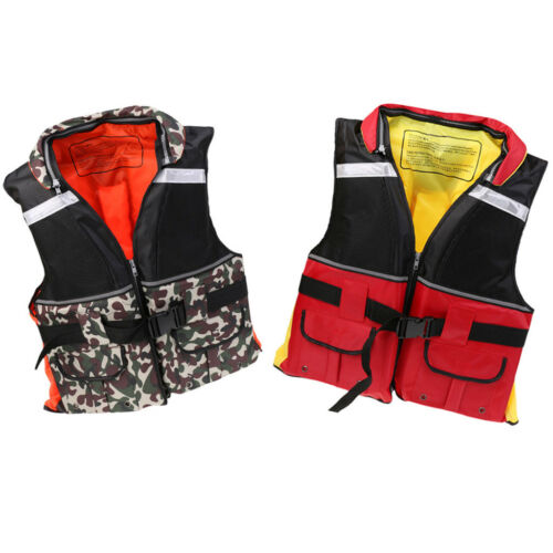 Adult Safety Life Jacket Survival Vest for Swimming Fishing Kayaking Boating