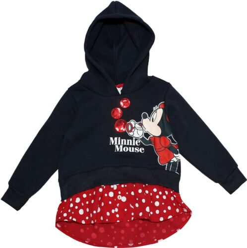 Minnie Mouse Girls Blowing Bubbles Panel Hooded Jumper