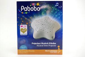 Pabobo-Nachtlicht-Einschlafhilfe-Melodie-Sternprojektor-Sterne-Batterie