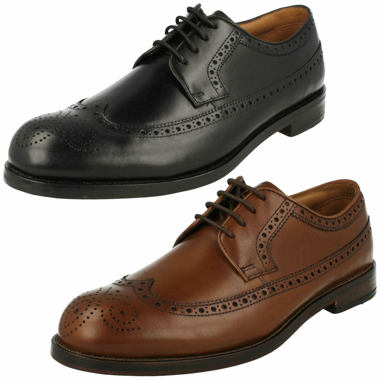 CLARKS Pour Homme En Cuir intelligent   Lacets Chaussures Formelles Chaussures Taille coling LIMIT