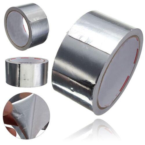 50mmx 17M Aluminium Foil Heat Shield Adhesive Sealing Tape Duct Repair