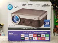 "165"" Onn 1080P Roku HD Projector - OPEN BOX Mississauga / Peel Region Toronto (GTA) Preview"