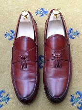 Gucci Mens Shoes Tan Brown Leather Tassel Loafers UK 9.5 US 10.5 EU 43.5