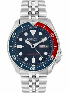 Seiko-Men-039-s-Automatic-SKX009K2-Blue-Stainless-Steel-Self-Wind-Diving-Watch
