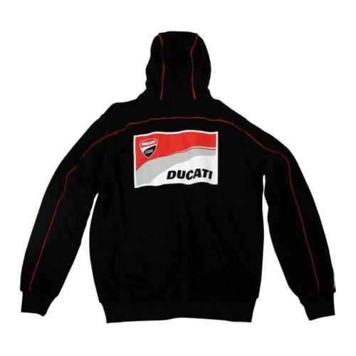 Noir Éclair Ducati 13 Official Fermeture Corse Neuf Capuche 26006 UwztXqx
