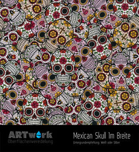 Water-Transfer-Printing-Film-Wtd-Hydrographic-Mexican-Skull-1m-x-1m-Width