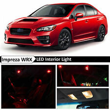 10x Red Interior LED Light Package Kit 2015-2017 Subaru WRX STI