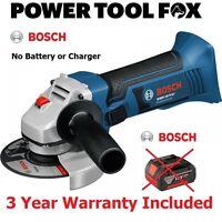 (B A R E) Bosch GWS 18V Li Cordless 115M ANGLE GRINDER 060193A30H 3165140811965