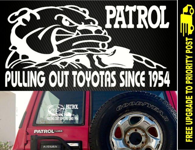 For Nissan PATROL ute gq gu 4x4 turbo diesel funny DECAL Sticker ROPE snatch
