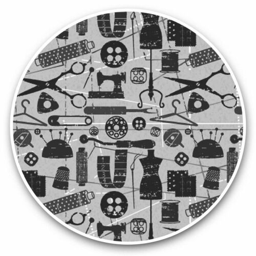2 x Vinyl Stickers 10cm Cute Sewing Dressmaker Tools  #35162 bw