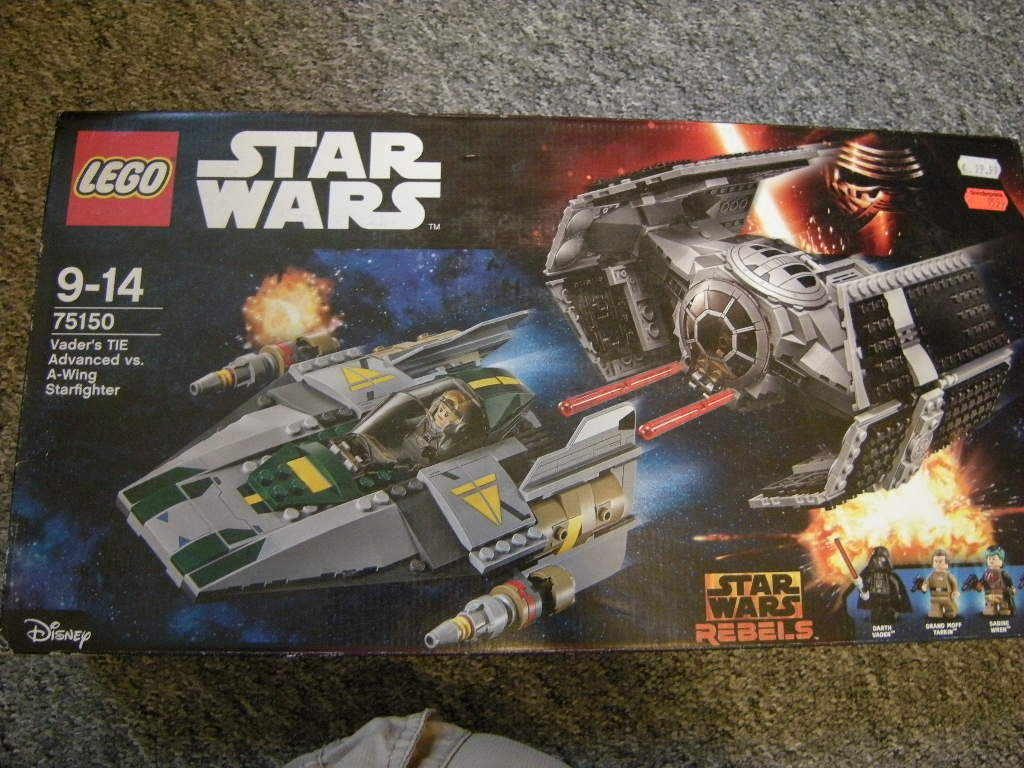 Lego Star Wars Vader's TIE Advanced vs. A-Wing Starfighter 9-14 Jahre Nr. 75150