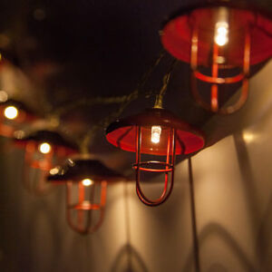 Details About Led Red Lantern String Lights 10 Warm White Battery Operated Camping
