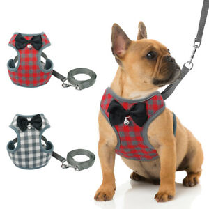 Mesh-Padded-Small-Dog-Harness-amp-Leads-Pet-Puppy-Cat-Vest-Yorkie-French-Bulldog