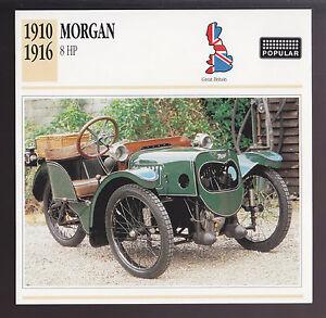 1910-1916 Morgan 8 hp Car Photo Spec Sheet Info CARD 1911 1912 1913 1914 1915