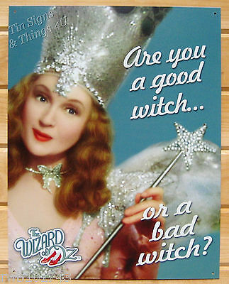 The Wizard of Oz Glinda Good or Bad Witch TIN SIGN metal movie quote poster 1570