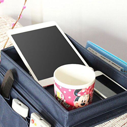 Sofa Couch Remote Control Holder Arm Rest Caddy Organiser Pocket Tray Storage