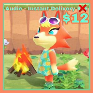 Audie Animal Crossing New Horizons Rare Villager Fast Delivery