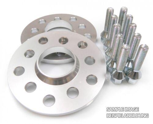 10 Radschrauben M12x15 Kegelbund 45mm Spurplatten-Satz 2x 20mm 5x110 Inkl