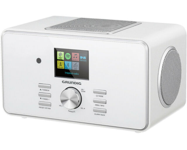GRUNDIG DTR 6000 2.1 BT DAB+ Internetradio Bluetooth Wlan Weiß