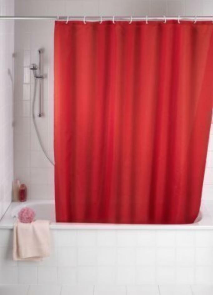 Tenda Tenda Tenda Doccia in Tessuto Rosso 240 x 200 Tinta Unita Inkl.ringe per Bagno 1b7253