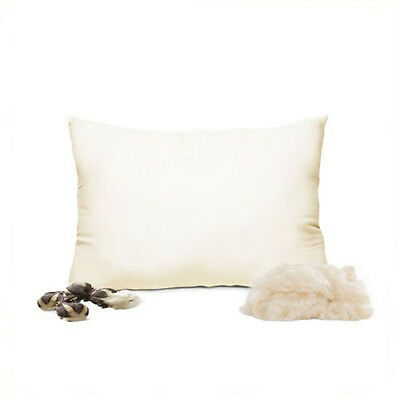 Natural Kapok Pillow w/ Organic Cotton Cover - STANDARD   Organic Textiles