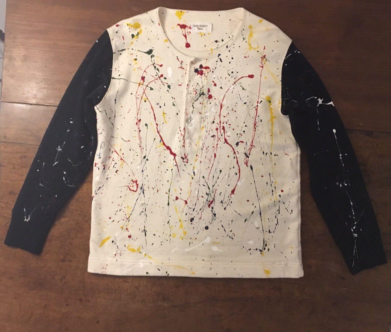 Our Legacy Sample Sweatshirt Paint Splatter - Größe 50 L - Excellent Condition