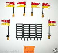 LEGO Castle Parts Gate Red Yellow Flag 6020 10223 7946 10176 70404 6090 6091 Set
