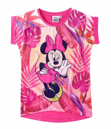 Girls T-Shirt Short Sleeve Top Minnie Mouse Mouse White Pink 104 116 128 134 140 #51