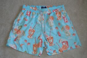 Vilebrequin-Blue-Cocktail-Drink-Print-Mens-Swimming-Shorts-Trunks-Mens-Size-XL