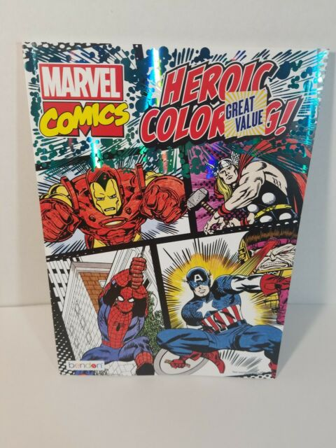 Brand New! Marvel Comics Heroic Coloring Book